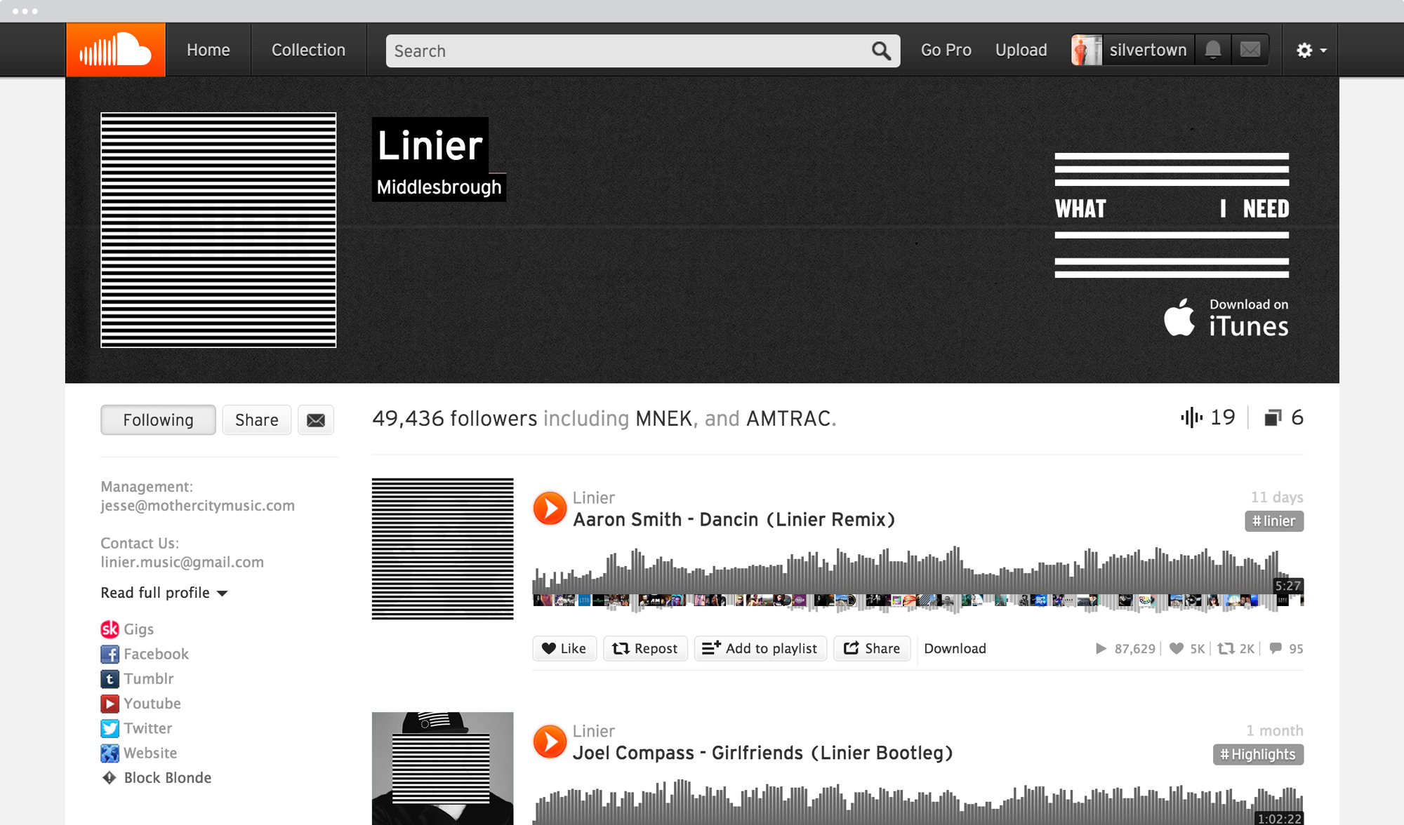 Soundcloud-page
